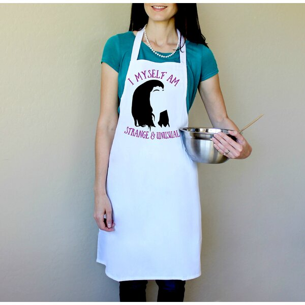 100% Cotton I Myself Am Strange and Unusual Apron by Love You A Latte Shop